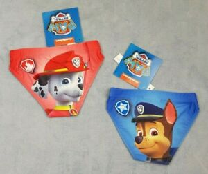 Official Paw Patrol Boys Swimming Briefs Trunks Pool Beach Holiday Age 2-6 Years
