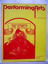 THE TEMPEST Large Program ANTHONY HOPKINS / STEPHANIE ZIMBALIST LA 1979