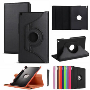 360 Rotating Flip PU Leather Case Cover For Huawei MediaPad M5 10.8/8.4 T5 10.1