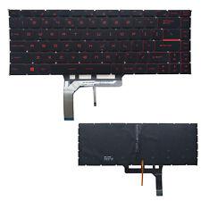 for MSI GL62M GL62MVR GL62VR GL63 GL72M GL73 GV62 GV72 US Red Backlit Keyboard