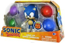 Sonic The Hedgehog Sonic & Light up Chaos Emeralds Figures New Rare