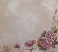 "8x8"" Scrapbook Paper Flowers Pretty Roses"