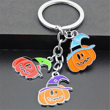 FD4222 Halloween Hat Pumpkins Pendant Key Ring Key Chain Keychain String Gift♫