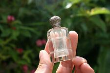 Antique/Vintage Miniature Art Decor Glass Perfume Bottle with Lid