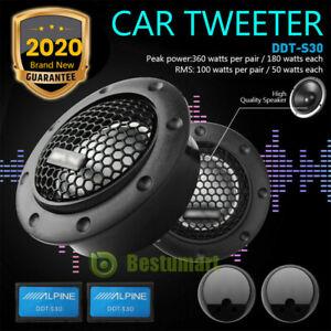 "2Pcs 1"" 360w 25mm Alpine Dome Balanced Car Speakers Tweeters Crossovers DDT-S30"