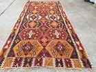 Vintage Turkish Kilim Kelim Rug 358x164 cm shabby chic wool, country home, boho