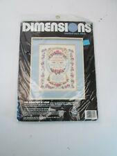 Dimensions Cross Stitch Craft Kit Wedding Greatest of Love Bible Verse NEW Vtg