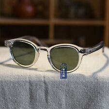 Vintage G15 polarized sunglasses mens johnny depp clear glasses green lens UV400
