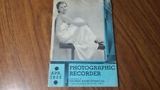 1933 Photographic Recorder By Eastman Kodak Camera Stores Professional