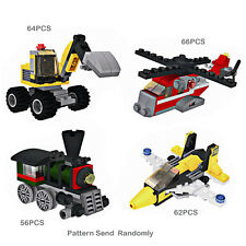 1Set Kid Plastic Engineering Assembling Building Block Jigsaw truck aircraft Toy