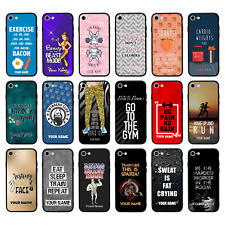 Personalised Glass Back Case for iPhone 6 6s 7 8 PLUS X XS MAX XR SE 2020 / GYM