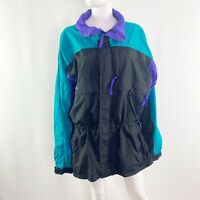 Vintage Columbia Radial Sleeve Nylon Windbreaker Zip Up Jacket Men's L