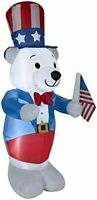 HALLOWEEN JULY 4TH PATRIOTIC MEMORIAL DAY POLAR BEAR  INFLATABLE AIRBLOWN 6 FT
