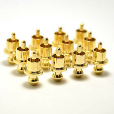 10pcs Gold Plated Noise Stopper Gold Plated Copper Caps for RCA Jack Female