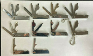 Junk Drawer Lot of 10 Mixed: Knives,Screw Driver,Files,Bottle Openers,MultiBlade