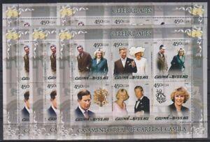 E830. 5x Guinea-Bissau - MNH - Famous People - Royal Family - 2005
