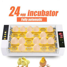 Digital Fully Automatic 24 Poultry Egg Incubator with Temperature Control 220V