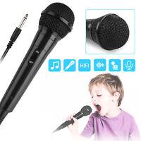 Singing Music Microphone Karaoke Dynamic Vocal Studio Wired 3.5mm Mic Handheld