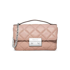 Michael Kors Sloan Small Quilted Messenger Leather Cross Body Ballet MSRP $258