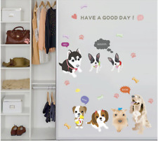 Lovely Dog Family Wall Stickers Dog Animals Wall Decals 60x90cm Home Decoration
