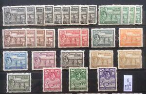 Turks And Caicos Islands. George VI. 1938 Sg 194-205Fine Mint Lightly Hinged.