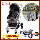Top Kinderwagen 3 in 1 Komplettset Babywanne Buggy Autositz Alu Buggy Reisebuggy