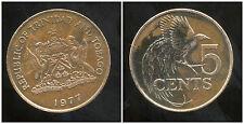 TRINIDAD ET TOBAGO    5  cents  1977
