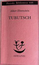 ALBERT EHRENSTEIN TUBUTSCH ADELPHI 2000