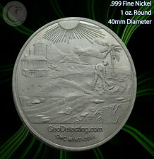 "2011 ""GeoDetecting - Detecting Metal"" 1oz .999 Nickel Round Limited and Rare"