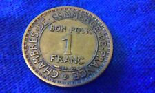 1920 France 1 Franc KEY Date Very Low Mintage 590,000 > *FREE  SHIPPING*