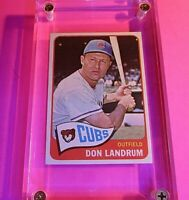 1965 Topps Baseball Card SP #596 Don Landrum Chicago Cubs ExMt