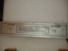 """New Cdi Early 70`s Chicago Coin """"Pong"""" Video Arcade Game Alluminum Plate Overlay"""