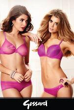 Gossard Glossies Slip Shorts Höschen M purple lila transparent glänzend