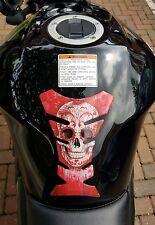 Red Skull Motorbike Tank Pad for Honda Yamaha Suzuki Triumph Kawasaki Ducati etc