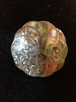 Vintage Taxco 925 Sterling Silver Abalone Brooch Preowned