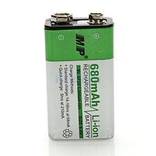 MP 9V 680mAh 6F22 Li-ion Rechargeable Power Battery For Microphone Multimeter