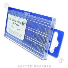 SMALL MICRO BORE STEEL DRILL BIT SET - NAT LPG LP GAS PILOT NOZZLES & INJECTORS