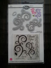 Sizzix Framelits & Stamps 657918 SWIRLS 6 stamps & 5 dies set