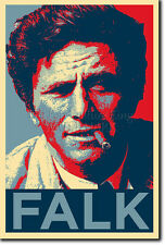 Peter Falk PHOTO PRINT POSTER CADEAU (OBAMA HOPE INSPIRÉ) COLUMBO