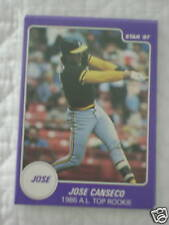 1987 STAR CO JOSE CANSECO WADE BOGGS SET A'S RED SOX (5 CARDS)