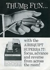 1960 Airequipt Superba 77 Projector Thumb Fun Print Ad
