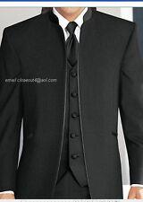 JEAN YVES 37r Estándar MIRAGE NEGRO Nehru Mandarín NUEVO Tuxedo GRATIS CAMISETA