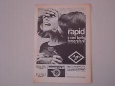 advertising Pubblicità 1964 AGFA ISO RAPID I