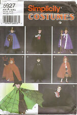 Simplicity Sewing Pattern 5927 Children's Cape,Robe &Headpiece Costume Halloween