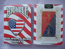Rare Bicycle Red White & Blue Deck Series 4 Playing Cards Magic Heart Design USA