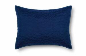 NWT Pillowfort Triangle Stitch Pillow Sham, Standard, Blue