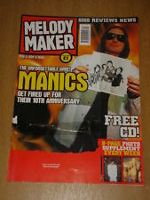 MELODY MAKER 1999 NOV 3 MANIC STREET PREACHERS OASIS