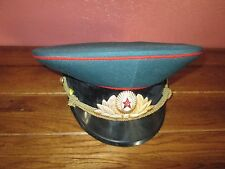 Vintage USSR Soviet Russian Uniform Military Visor Cap Hat  Size 54