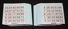 BINGO PAPER Cards 1 on's singles  500 sheets Aqua Border  FREE SHIPPING IN US