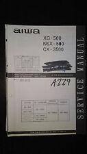 Aiwa cx-3500 xg-500 nsx  service manual original repair book stereo boombox cd